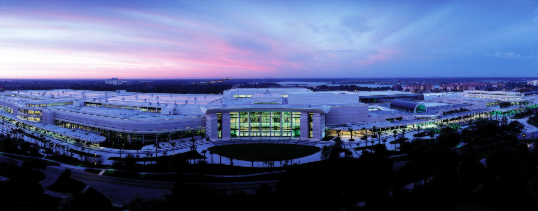 Above view of OCCC at night
