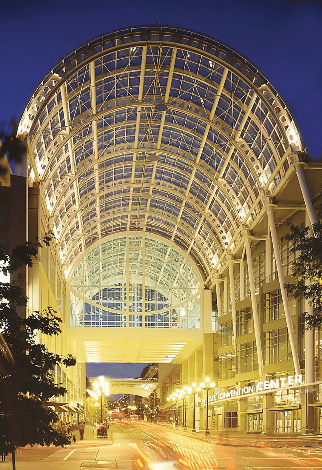 Arch at the Washington State Convention Center .
