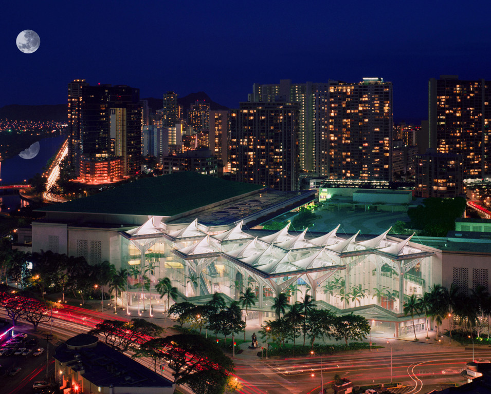 Hawaii Convention Center from the sky